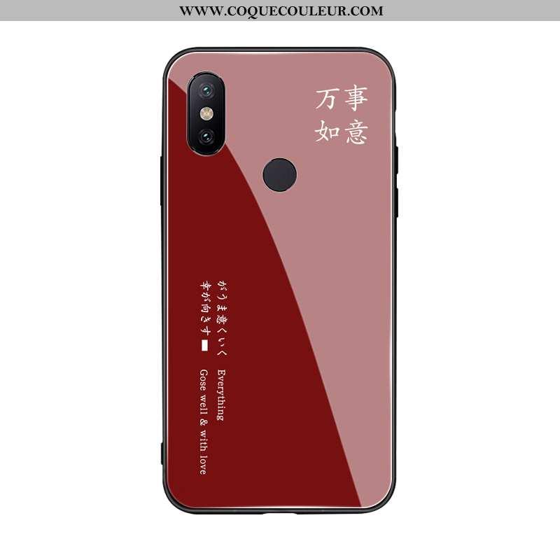 Étui Xiaomi Mi Max 3 Fluide Doux Téléphone Portable Petit, Coque Xiaomi Mi Max 3 Silicone Vin Rouge