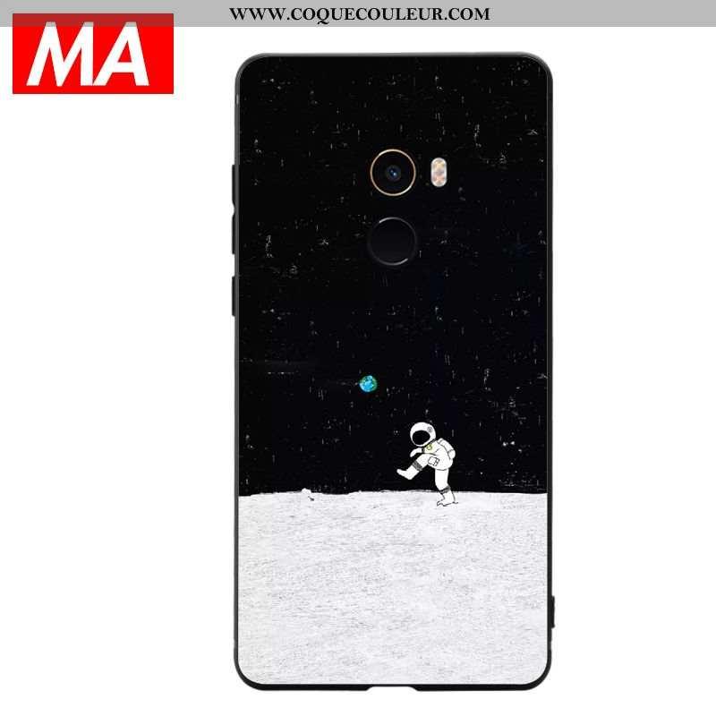 Étui Xiaomi Mi Max 3 Silicone Clair Coque, Coque Xiaomi Mi Max 3 Créatif Vent Noir