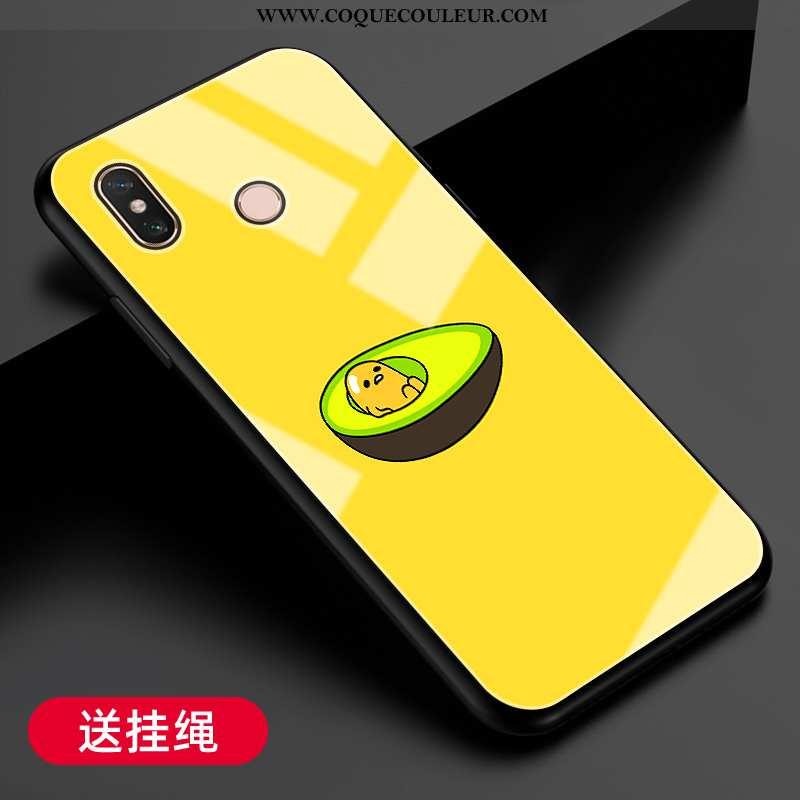 Coque Xiaomi Mi Max 3 Verre Protection Fluide Doux, Housse Xiaomi Mi Max 3 Tendance Téléphone Portab