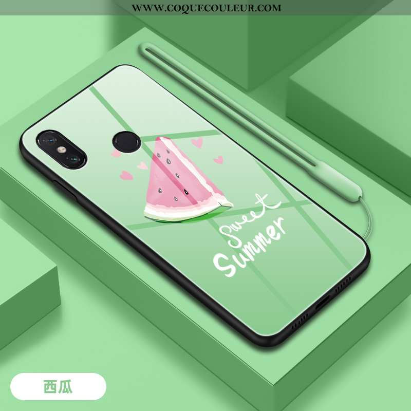 Housse Xiaomi Mi Max 3 Verre Incassable Téléphone Portable, Étui Xiaomi Mi Max 3 Tendance Frais Vert