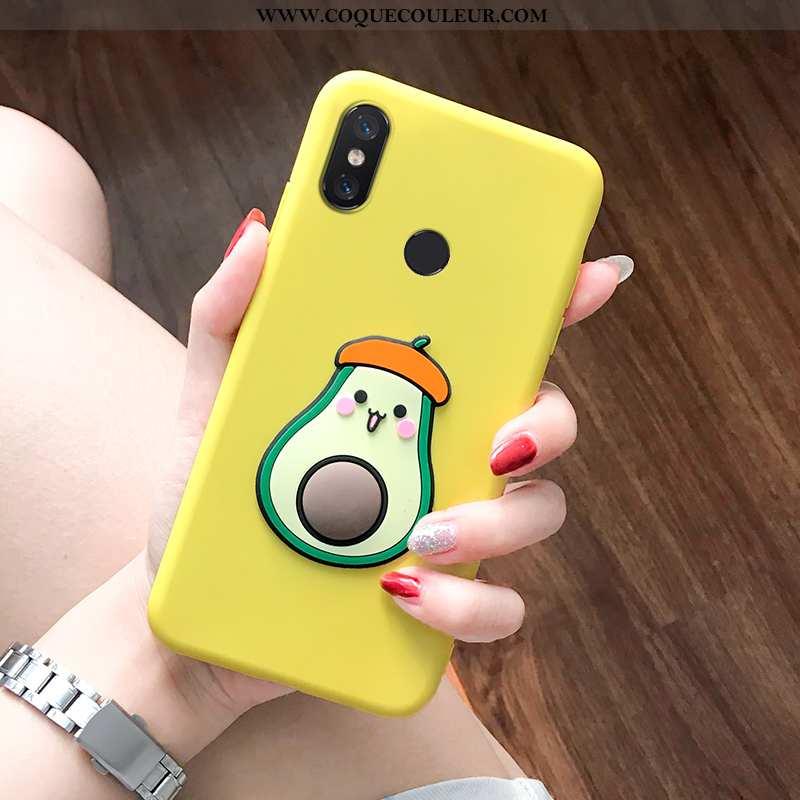 Coque Xiaomi Mi Max 3 Charmant Simple Protection, Housse Xiaomi Mi Max 3 Tendance Tout Compris Jaune