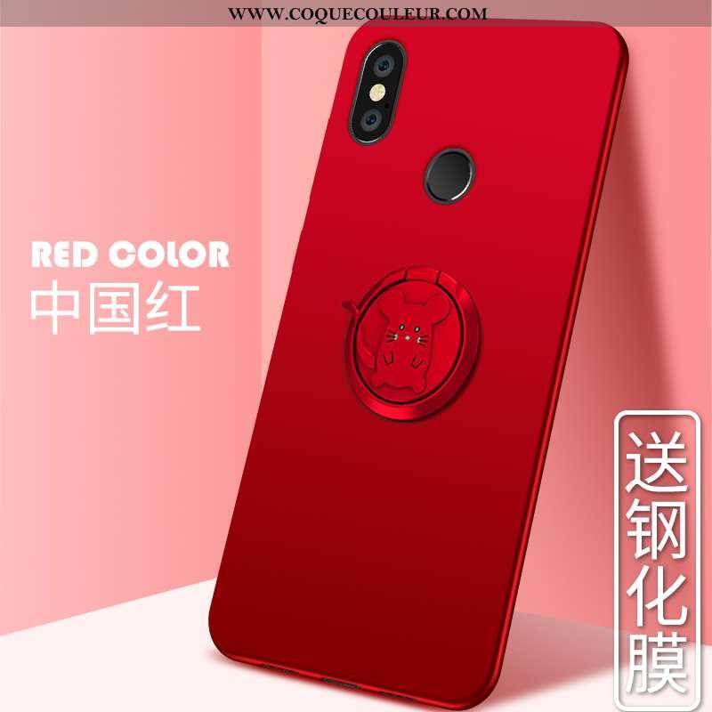 Coque Xiaomi Mi Max 3 Silicone Tout Compris Personnalité, Housse Xiaomi Mi Max 3 Protection Rouge