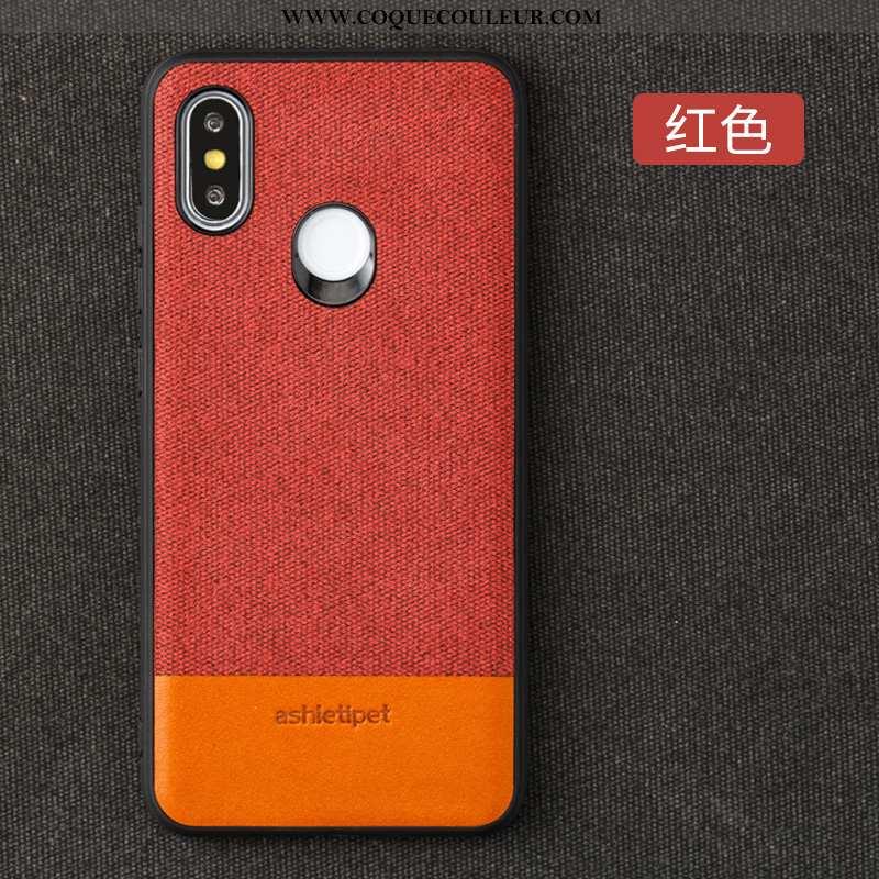 Étui Xiaomi Mi Max 3 Protection Téléphone Portable Petit, Coque Xiaomi Mi Max 3 Cuir Rouge