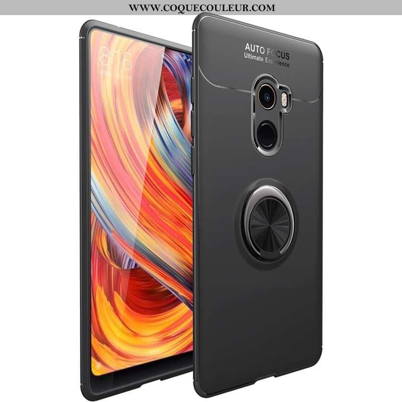 Étui Xiaomi Mi Mix 2 Silicone Noir Support, Coque Xiaomi Mi Mix 2 Fluide Doux