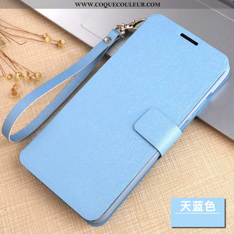 Coque Xiaomi Mi Mix 2 Protection Bleu, Housse Xiaomi Mi Mix 2 Cuir Petit Bleu