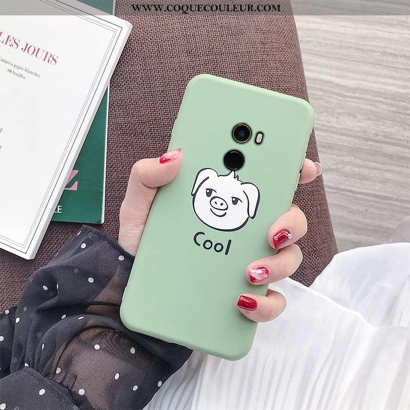 Étui Xiaomi Mi Mix 2 Fluide Doux Amoureux Tout Compris, Coque Xiaomi Mi Mix 2 Silicone Verte