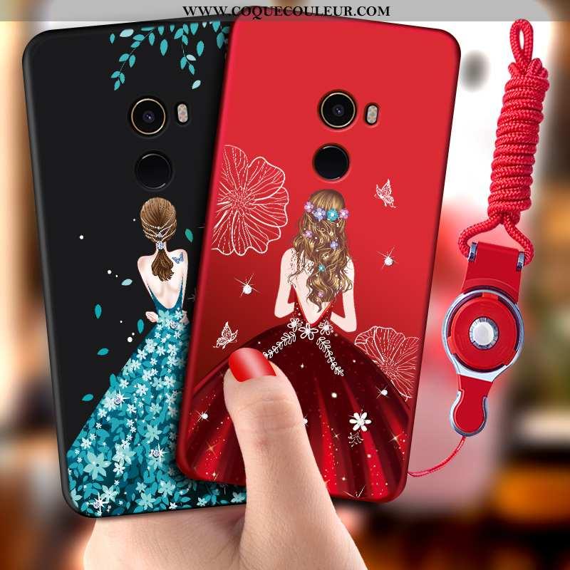 Housse Xiaomi Mi Mix 2 Fluide Doux Tout Compris Coque, Étui Xiaomi Mi Mix 2 Silicone Rouge