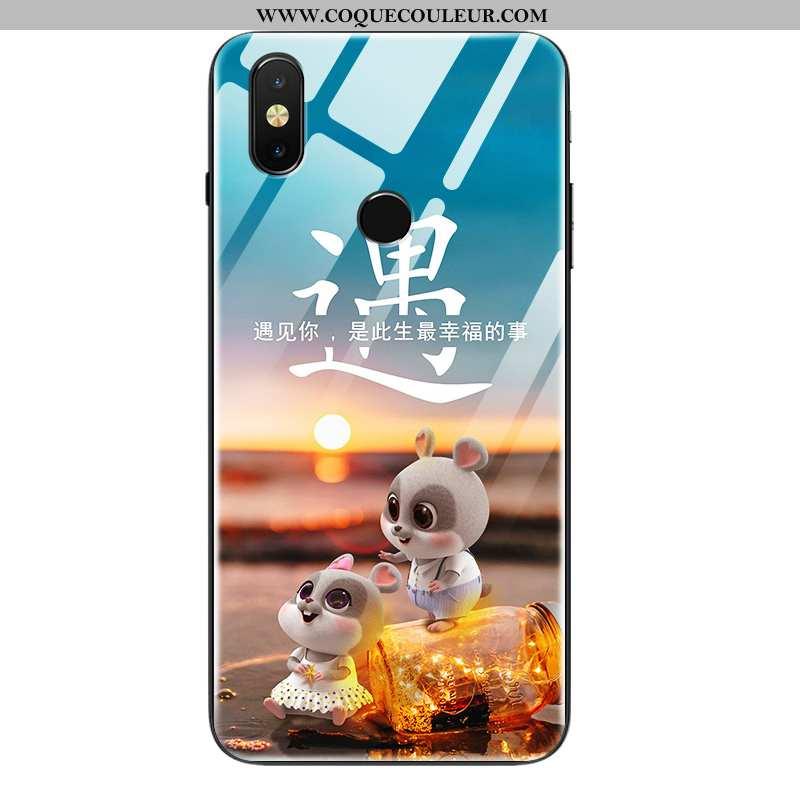 Housse Xiaomi Mi Mix 2s Silicone Fluide Doux Coque, Étui Xiaomi Mi Mix 2s Protection Tendance Bleu