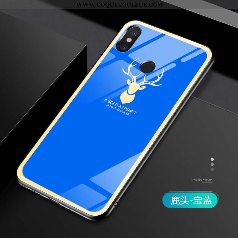 Coque Xiaomi Mi Mix 2s Créatif Légère Coque, Housse Xiaomi Mi Mix 2s Tendance Fluide Doux Bleu