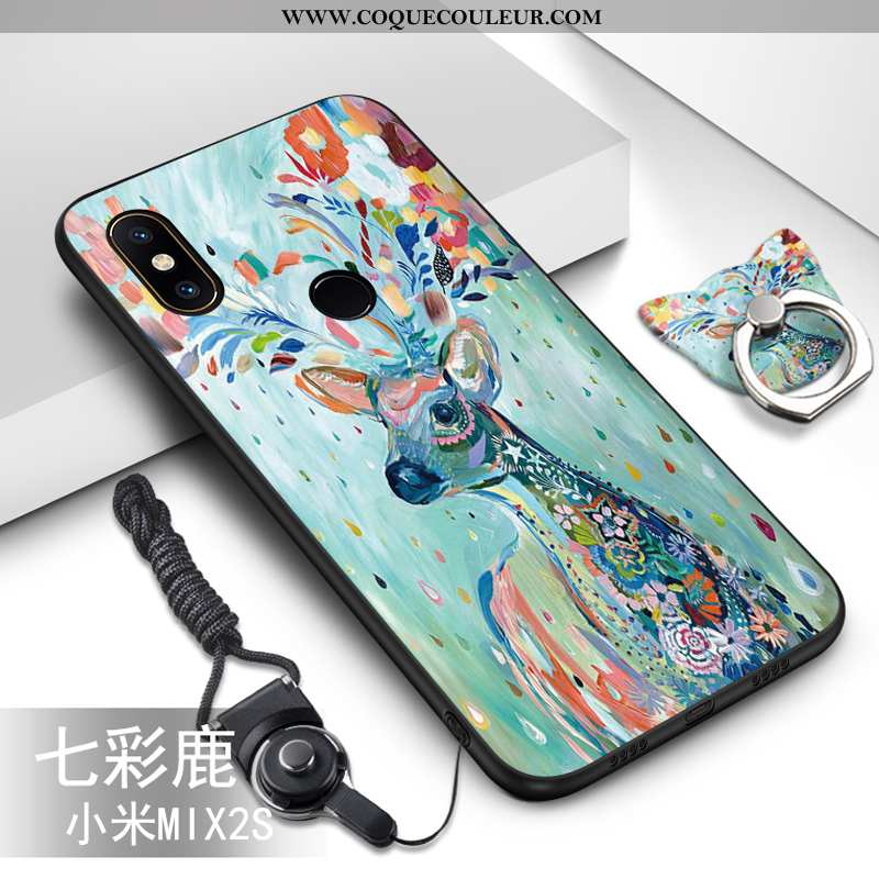 Coque Xiaomi Mi Mix 2s Dessin Animé Ornements Suspendus Vert, Housse Xiaomi Mi Mix 2s Tendance Prote
