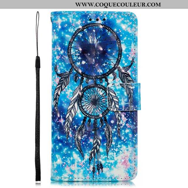 Étui Xiaomi Mi Mix 2s Charmant Art Téléphone Portable, Coque Xiaomi Mi Mix 2s Cuir Petit Bleu