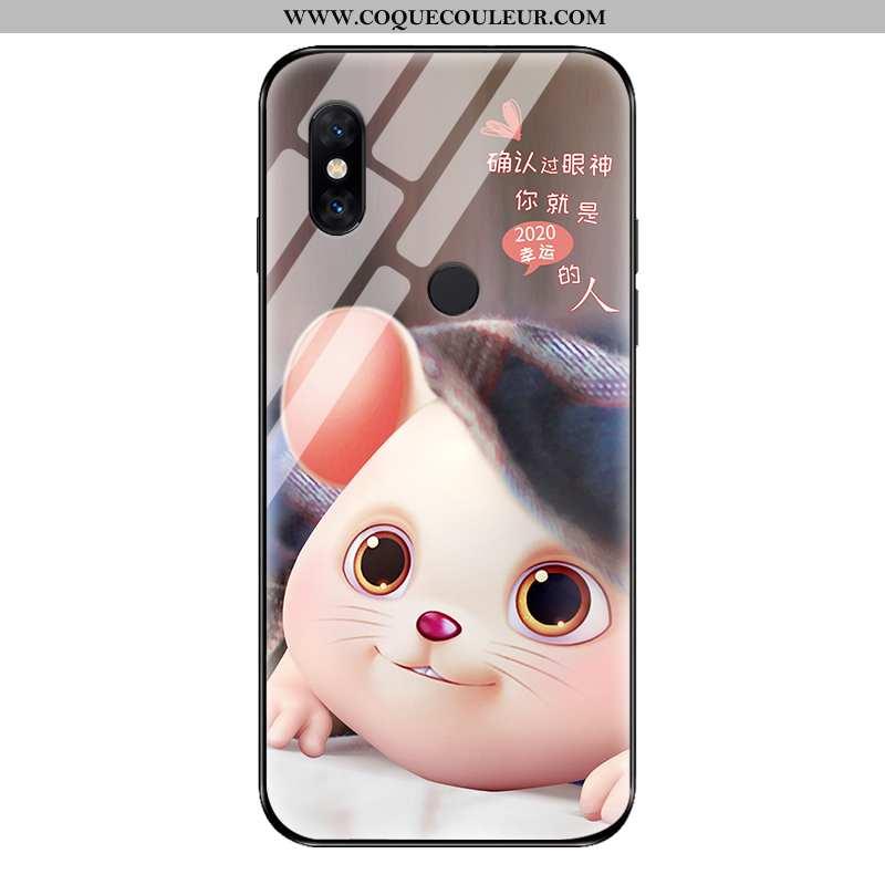 Étui Xiaomi Mi Mix 2s Personnalité Coque Petit, Xiaomi Mi Mix 2s Créatif Net Rouge Gris