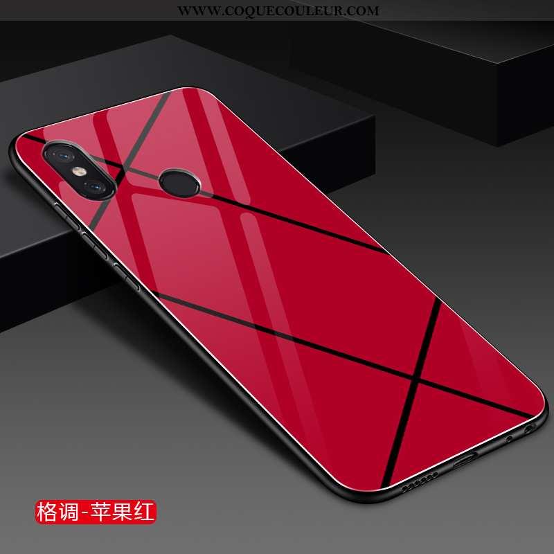 Étui Xiaomi Mi Mix 2s Protection Incassable Personnalité, Coque Xiaomi Mi Mix 2s Verre Créatif Rouge