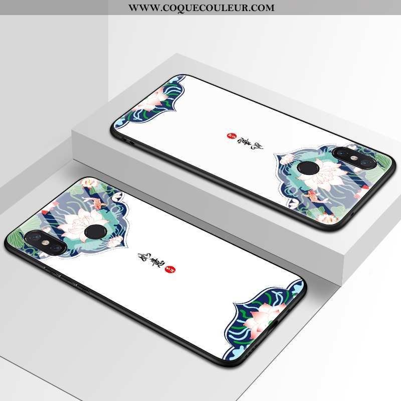 Coque Xiaomi Mi Mix 2s Verre Téléphone Portable Miroir, Housse Xiaomi Mi Mix 2s Personnalité Tendanc