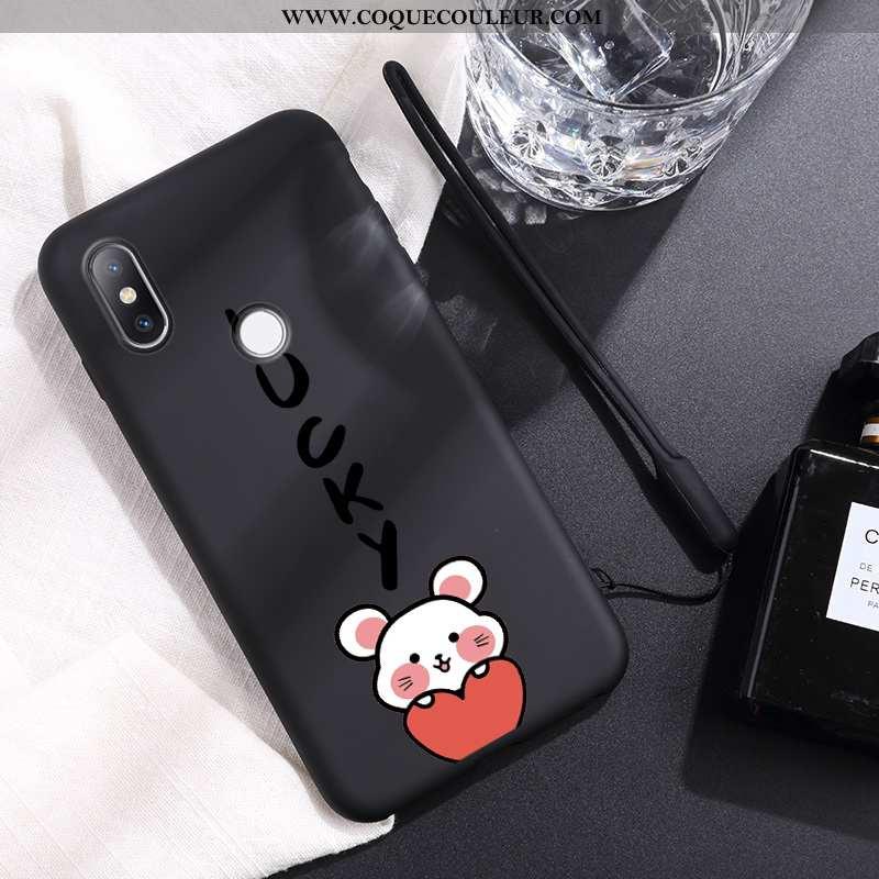 Housse Xiaomi Mi Mix 2s Créatif Petit Protection, Étui Xiaomi Mi Mix 2s Ultra Personnalité Noir