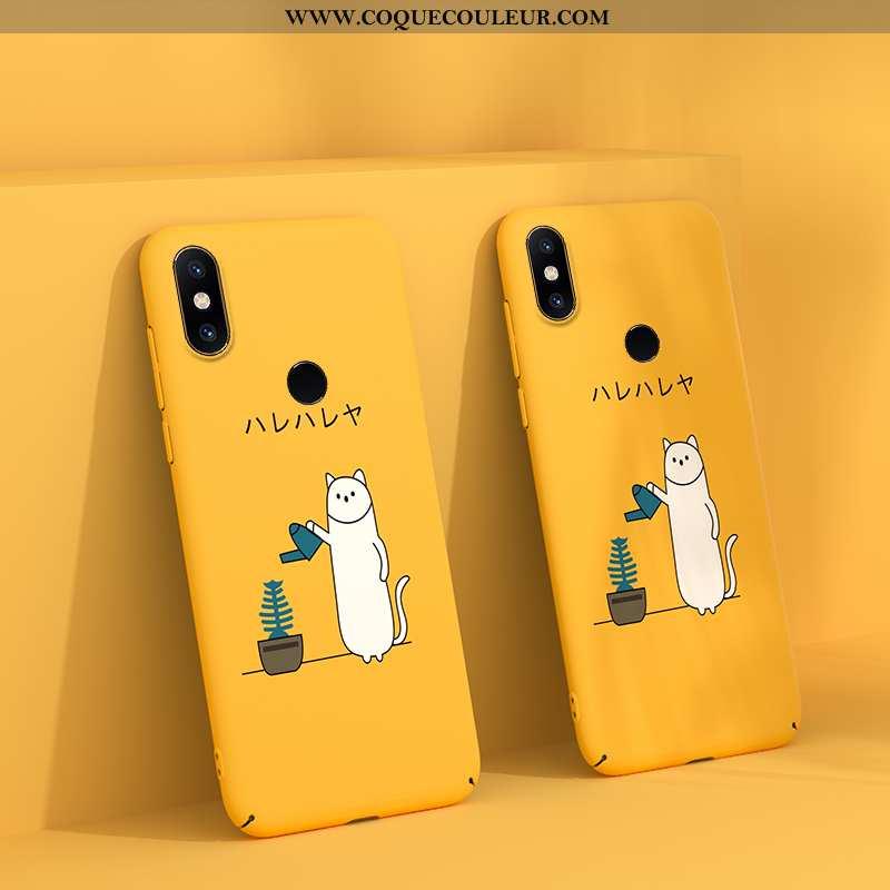 Étui Xiaomi Mi Mix 2s Délavé En Daim Légère Jaune, Coque Xiaomi Mi Mix 2s Personnalité Vent Jaune