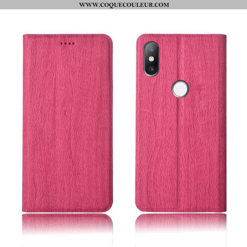 Coque Xiaomi Mi Mix 2s Modèle Fleurie Clamshell Cuir, Housse Xiaomi Mi Mix 2s Fluide Doux Arbres Ros