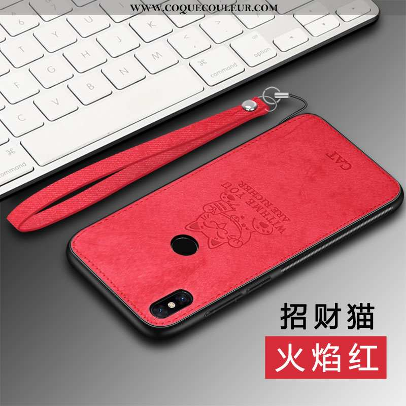 Étui Xiaomi Mi Mix 2s Personnalité Net Rouge Silicone, Coque Xiaomi Mi Mix 2s Modèle Fleurie Rouge