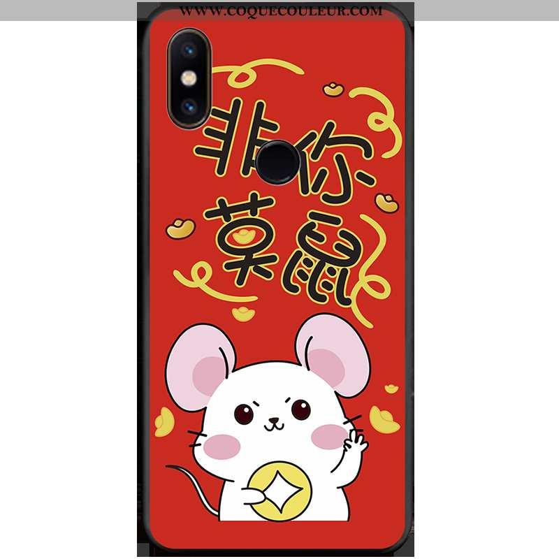 Coque Xiaomi Mi Mix 2s Tendance Étui Coque, Housse Xiaomi Mi Mix 2s Personnalité Petit Rouge
