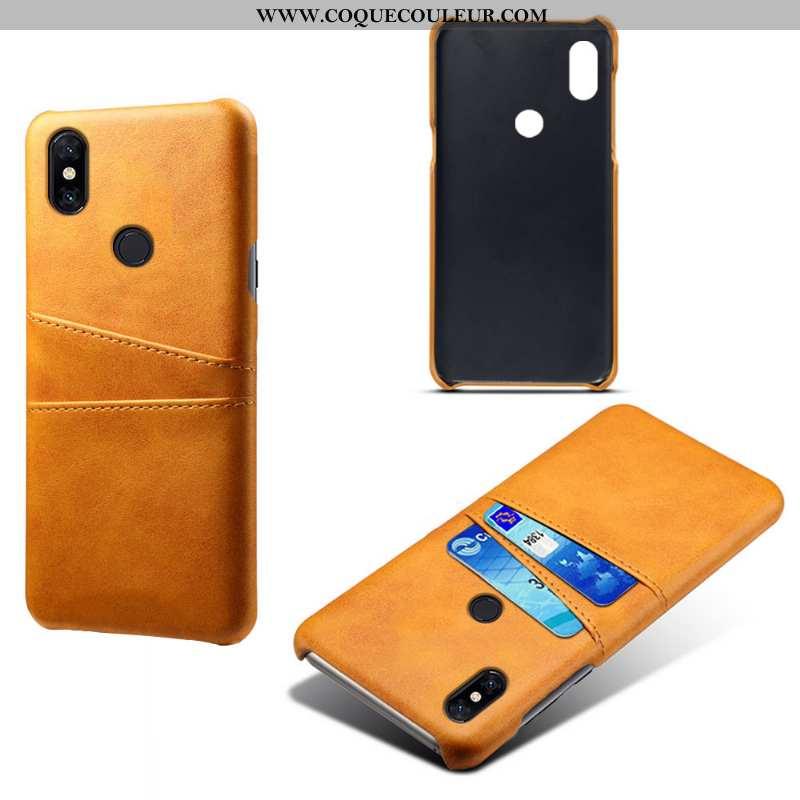 Housse Xiaomi Mi Mix 3 Cuir Téléphone Portable Qualité, Étui Xiaomi Mi Mix 3 Protection Jaune