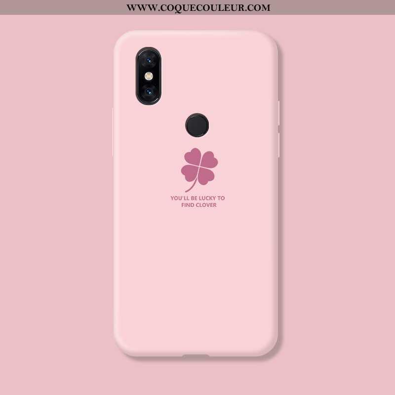 Coque Xiaomi Mi Mix 3 Fluide Doux Téléphone Portable Rose, Housse Xiaomi Mi Mix 3 Silicone Net Rouge