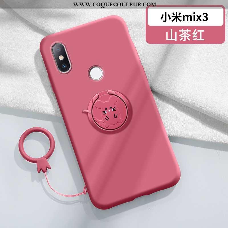 Étui Xiaomi Mi Mix 3 Personnalité À Bord Amoureux, Coque Xiaomi Mi Mix 3 Créatif Légère Rouge