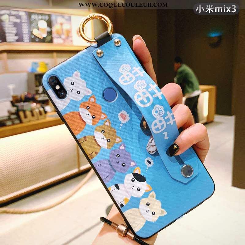 Housse Xiaomi Mi Mix 3 Légère Protection Dessin Animé, Étui Xiaomi Mi Mix 3 Silicone Charmant Bleu