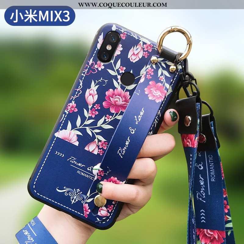 Étui Xiaomi Mi Mix 3 Ultra Protection Fluide Doux, Coque Xiaomi Mi Mix 3 Tendance Tout Compris Bleu