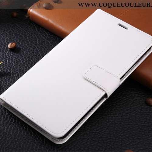 Housse Xiaomi Mi Mix 3 Cuir Téléphone Portable Couleur Unie, Étui Xiaomi Mi Mix 3 Coque Petit Blanch