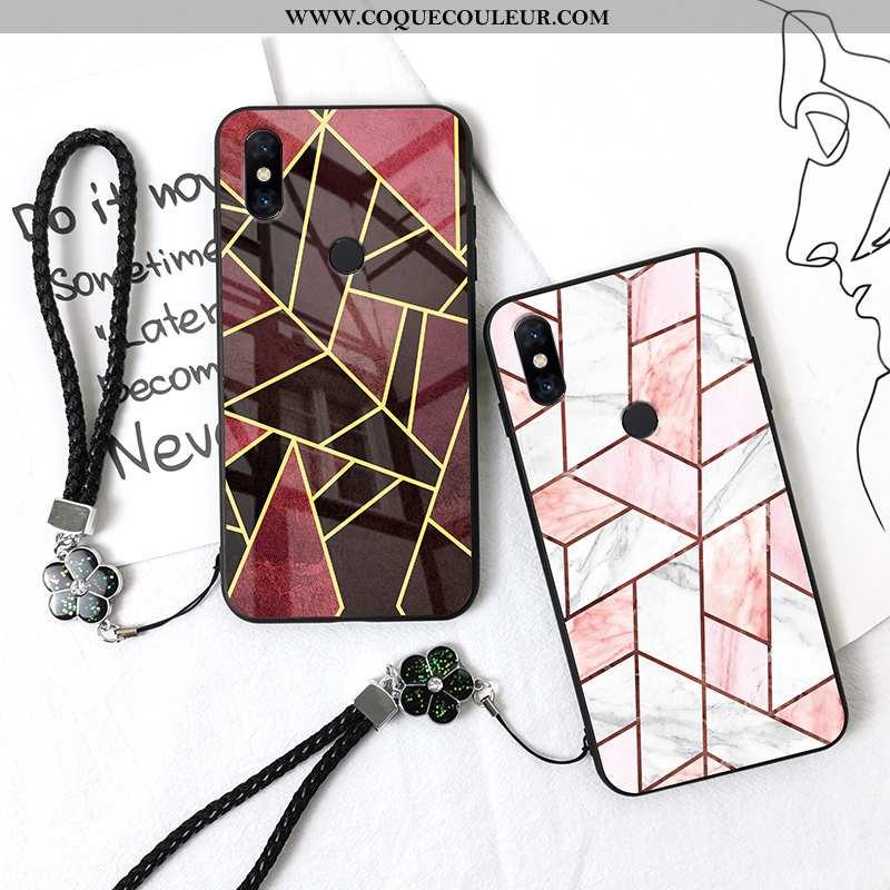 Coque Xiaomi Mi Mix 3 Tendance Protection Grand, Housse Xiaomi Mi Mix 3 Fluide Doux Incassable Rouge