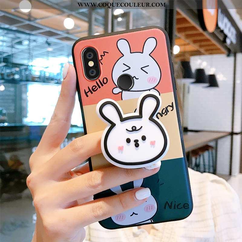 Étui Xiaomi Mi Mix 3 Créatif Ours Fluide Doux, Coque Xiaomi Mi Mix 3 Dessin Animé Charmant Rose