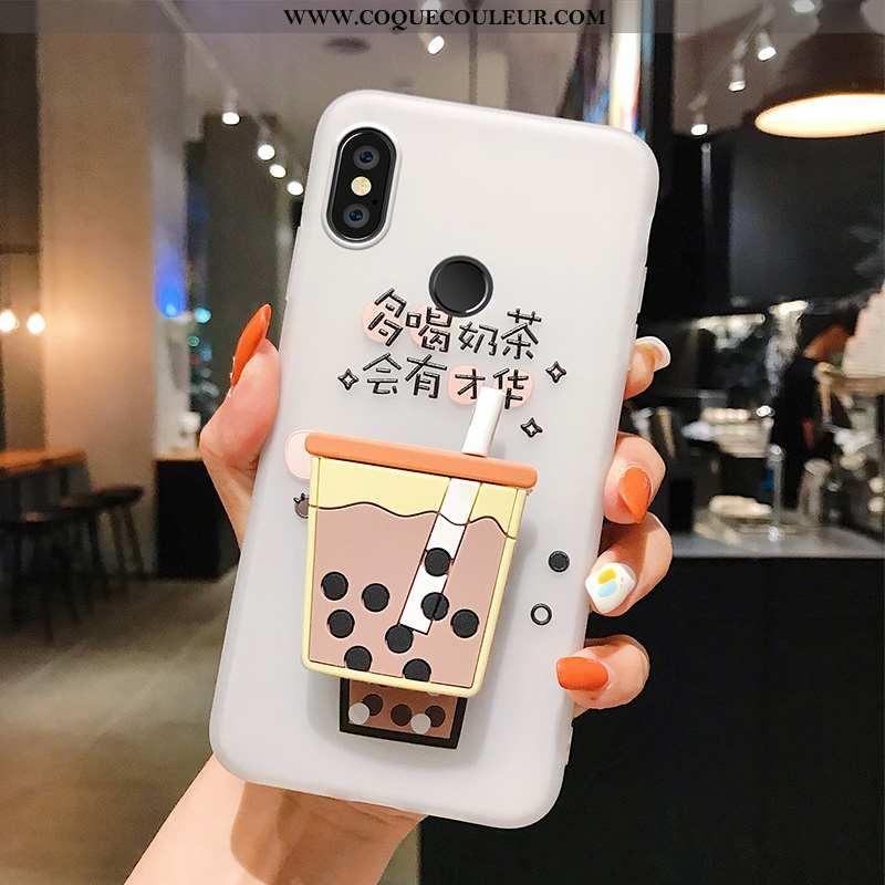Housse Xiaomi Mi Mix 3 Protection Téléphone Portable Support, Étui Xiaomi Mi Mix 3 Personnalité Blan