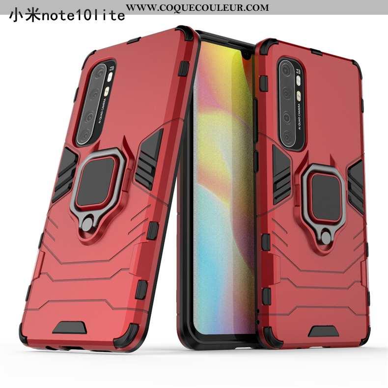 Coque Xiaomi Mi Note 10 Lite Invisible À Bord Petit, Housse Xiaomi Mi Note 10 Lite Jeunesse Rouge