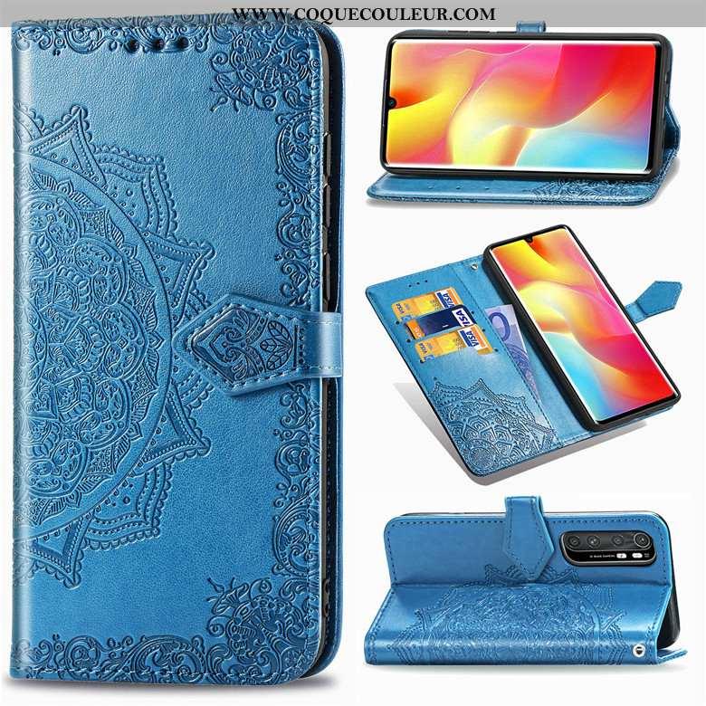 Étui Xiaomi Mi Note 10 Lite Protection Coque Étui, Xiaomi Mi Note 10 Lite Cuir Bleu