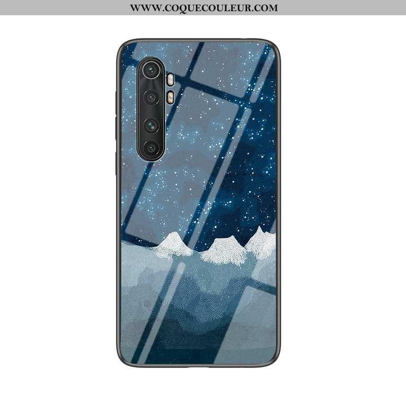 Housse Xiaomi Mi Note 10 Lite Mode Coque Bleu Marin, Étui Xiaomi Mi Note 10 Lite Protection Fluide D