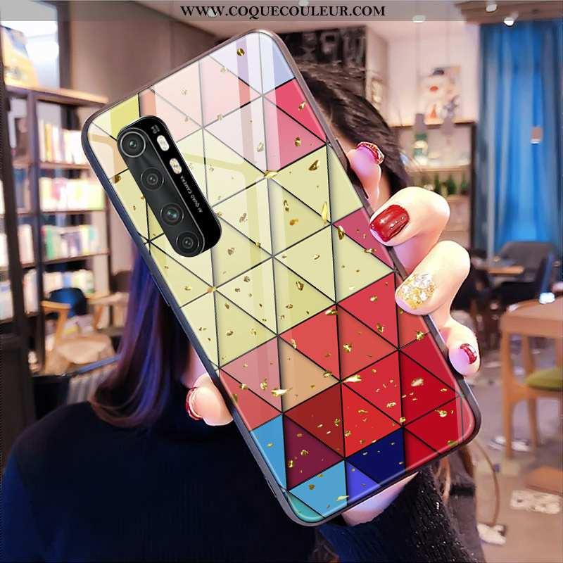 Étui Xiaomi Mi Note 10 Lite Verre Tout Compris Or, Coque Xiaomi Mi Note 10 Lite Personnalité Télépho