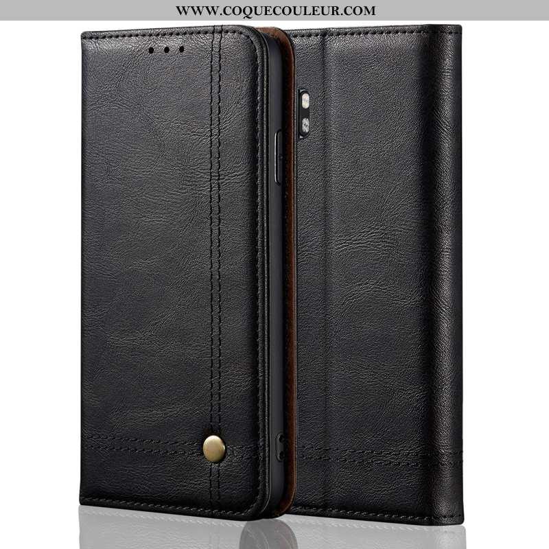 Étui Xiaomi Mi Note 10 Classic Petit Noir, Coque Xiaomi Mi Note 10 Protection Noir
