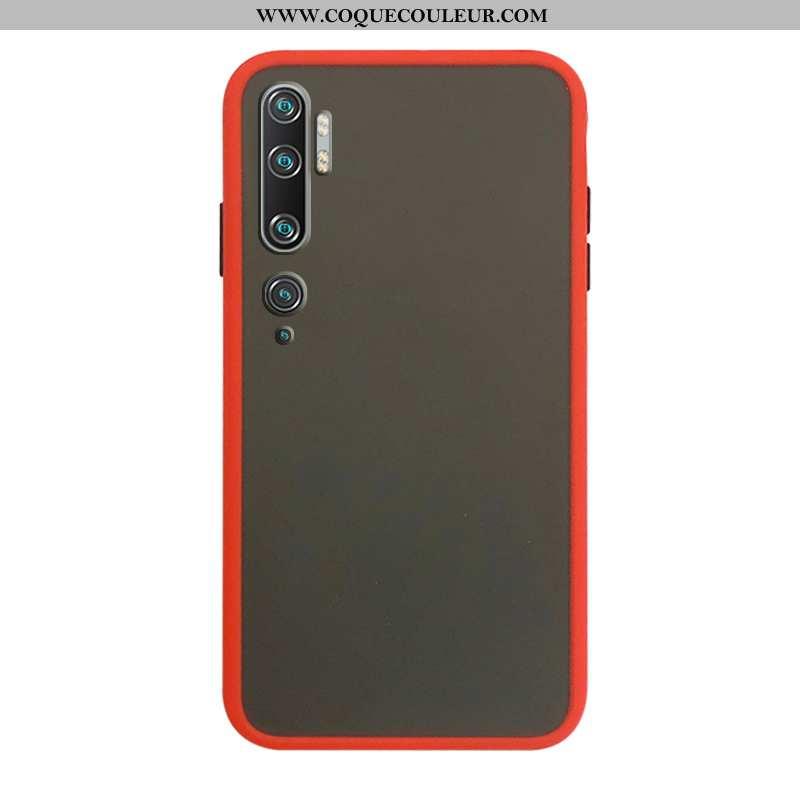 Étui Xiaomi Mi Note 10 Délavé En Daim Rouge Téléphone Portable, Coque Xiaomi Mi Note 10 Protection P