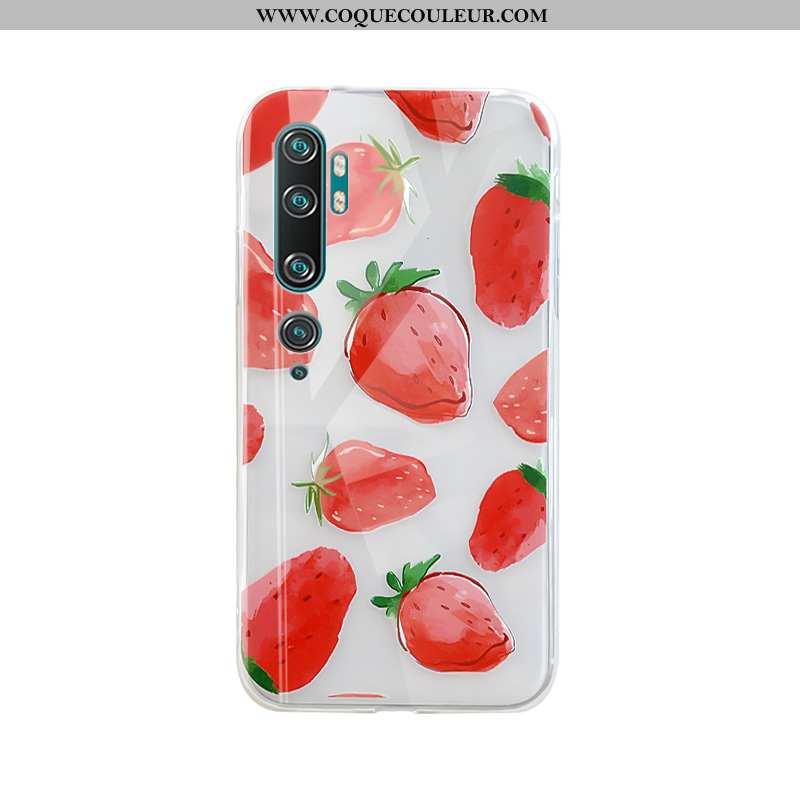 Coque Xiaomi Mi Note 10 Créatif Net Rouge Coque, Housse Xiaomi Mi Note 10 Charmant Simple