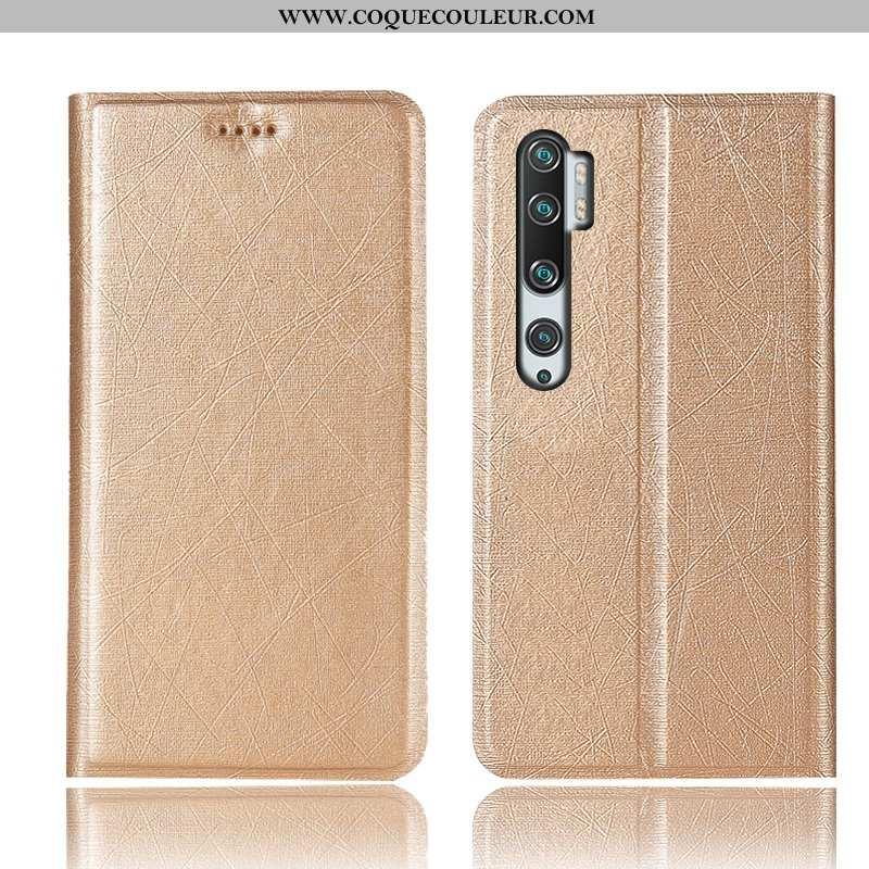 Étui Xiaomi Mi Note 10 Protection Housse Modèle Fleurie, Coque Xiaomi Mi Note 10 Cuir Incassable Dor