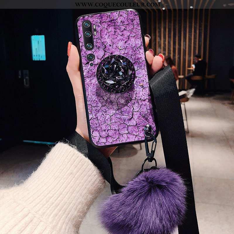 Étui Xiaomi Mi Note 10 Silicone Modèle Étui, Coque Xiaomi Mi Note 10 Protection Personnalisé Violet