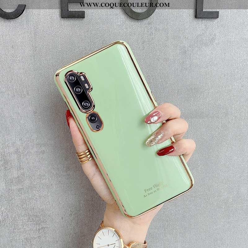 Étui Xiaomi Mi Note 10 Fluide Doux Petit Coque, Coque Xiaomi Mi Note 10 Silicone Tout Compris Verte
