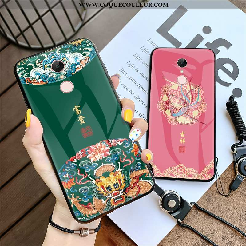 Coque Xiaomi Redmi 5 Créatif Vert Téléphone Portable, Housse Xiaomi Redmi 5 Vintage Style Chinois Ve