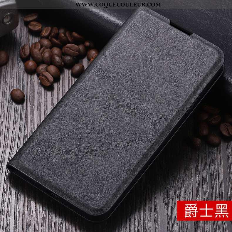 Coque Xiaomi Redmi 5 Cuir Étui Reversible, Housse Xiaomi Redmi 5 Téléphone Portable Noir