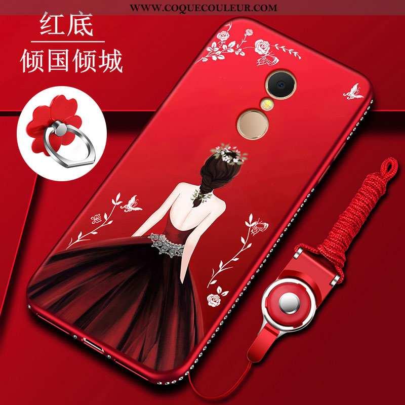 Housse Xiaomi Redmi 5 Transparent Tout Compris Étui, Étui Xiaomi Redmi 5 Silicone Coque Rouge