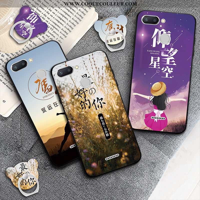 Étui Xiaomi Redmi 6 Protection Incassable Violet, Coque Xiaomi Redmi 6 Téléphone Portable Violet