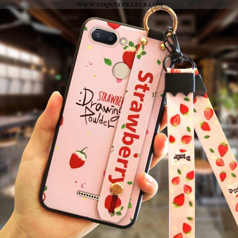 Housse Xiaomi Redmi 6 Créatif Petit Rouge, Étui Xiaomi Redmi 6 Tendance Coque Rose