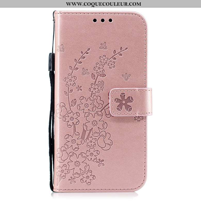 Étui Xiaomi Redmi 6 Protection Fluide Doux, Coque Xiaomi Redmi 6 Cuir Téléphone Portable Rose