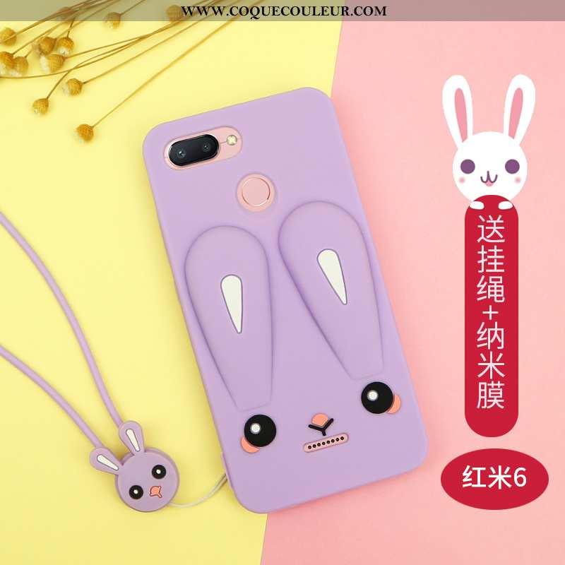 Housse Xiaomi Redmi 6 Dessin Animé Étui Rouge, Xiaomi Redmi 6 Charmant Créatif Violet