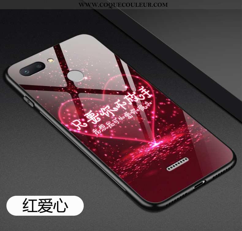 Coque Xiaomi Redmi 6 Tendance Créatif Étui, Housse Xiaomi Redmi 6 Fluide Doux Silicone Rouge